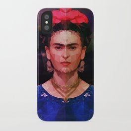 FRIDA KAHLO GEOMETRIC PORTRAIT iPhone Case