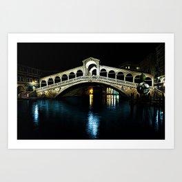 Rialto Bridge, Grand Canal, Venice, Italy Landscape by Jeanpaul Ferro Art Print