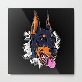 Dog Motif Dog Lover Gift Idea Design Metal Print