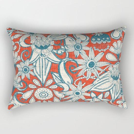 sarilmak fire orange blue Rectangular Pillow