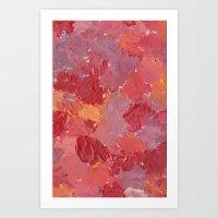 Palette mix Art Print