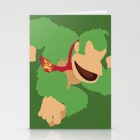 donkey kong Stationery Cards featuring Donkey Kong(Smash)Green by ejgomez