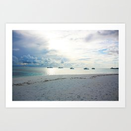 Meeru Island, The Maldives Art Print