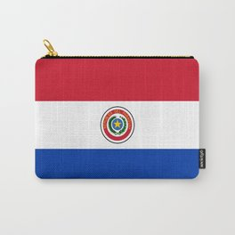 flag of paraguay -paraguyan,asuncion,spanish, south america, latin america,pan flute,coffee,forest Carry-All Pouch