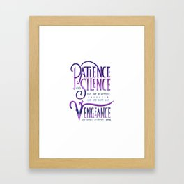 PATIENCE AND SILENCE Framed Art Print
