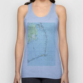 Vintage Southern Outer Banks Map (1957) Unisex Tank Top