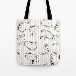 Vintage Bunnies Tote Bag