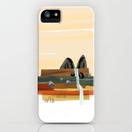 Modern abstract landscape iPhone Case