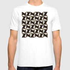 Black brown tile pattern #1 Mens Fitted Tee MEDIUM White