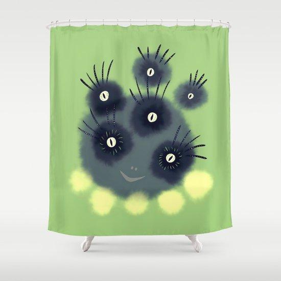 Creepy Cute Spider Face Monster Shower Curtain By Borianagiormova