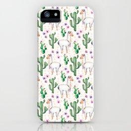 Funny Llama Pattern iPhone Case