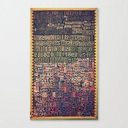 Typecase 2 Canvas Print