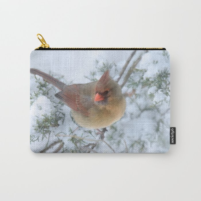 Drifting (Northern Cardinal) Carry-All Pouch