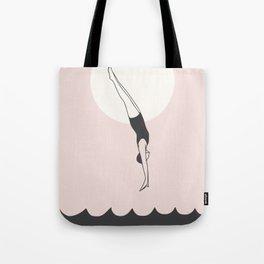 Diver in pink Tote Bag
