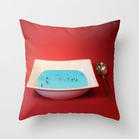 witchoria Throw Pillows featuring God Complex by witchoria