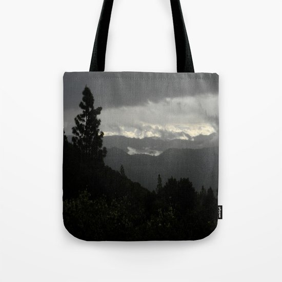 Another stormy day on the mountain... Tote Bag