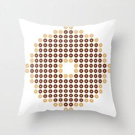 Chocolate Donut Mosaic Throw Pillow