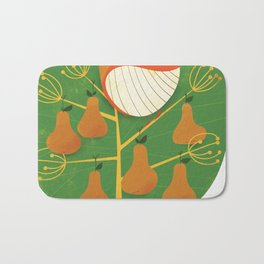 First Day of Christmas Bath Mat