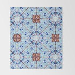Nice and Blue Mandalic Pattern Throw Blanket