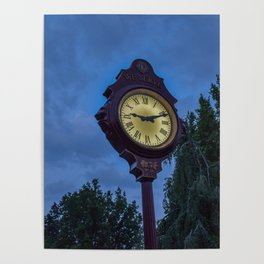 The Lions Clock in Queen Elizabeth Park Vancouver BC Poster