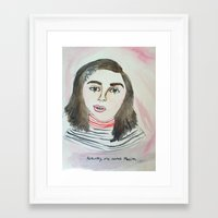 feminism Framed Art Prints featuring FEMINISM by Fin Bunting