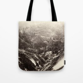 Devil's Canyon, geysers, looking down Tote Bag