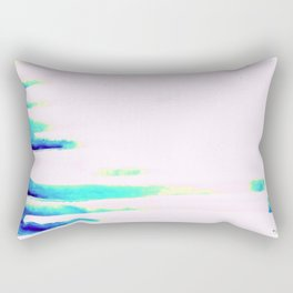 Colorful Seaside Stripes Rectangular Pillow