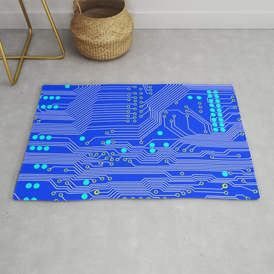 Blue Circuit Board  by jennifergibson