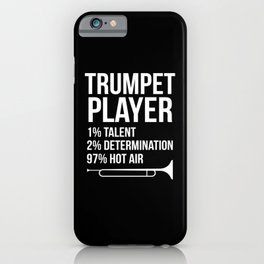 Trumpet Player Repeat Musicans Instrument iPhone Case