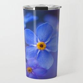 Blue Forget-Me-Not Flower Travel Mug
