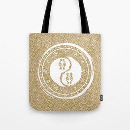 Gemini Yin Yang Third Zodiac Sign Tote Bag