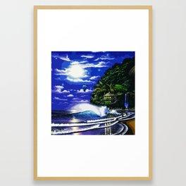 Tardis Art And The Moon Shine Framed Art Print