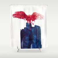 beast Shower Curtains featuring Big Beast by Robert Farkas
