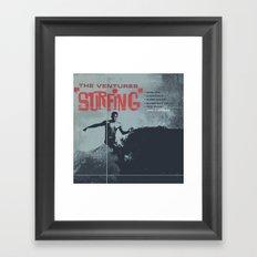 Vintage Surf Framed Art Print