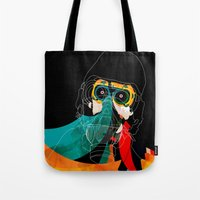 mask Tote Bags featuring Mask by Alvaro Tapia Hidalgo