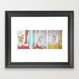Figures Triptych Framed Art Print