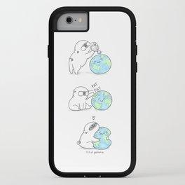 Mochi the pug celebrating Earth day iPhone Case
