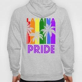 Lahaina Pride Gay Pride LGBTQ Rainbow Palm Trees Hoody