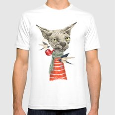 Sphynx cat Mens Fitted Tee White MEDIUM
