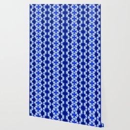 indigo shibori print Wallpaper