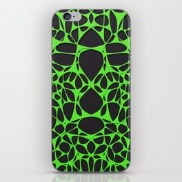 Green on black, organic abstraction iPhone Skin