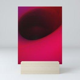 Black hole in pink Mini Art Print