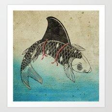 Koi Shark Fin Art Print
