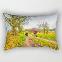 Countryside Bike Ride Rectangular Pillow