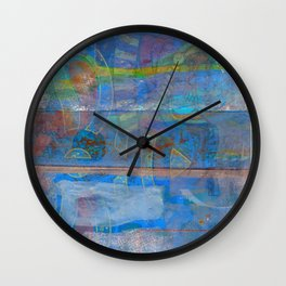 Mid-To-Late Century Blues Wall Clock