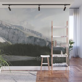 Airy Mountain Lake - Landscape Photography Wall Mural
