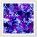 Modern blue purple watercolor brushstrokes paint by girlytrend