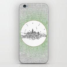 Indianapolis, Indiana City Skyline Illustration Drawing iPhone & iPod Skin