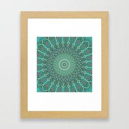 Mint Dreams Mandala Framed Art Print