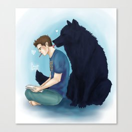 Sterek wolf kisses print Canvas Print